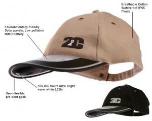 2C Solar-Powered Baseball Cap