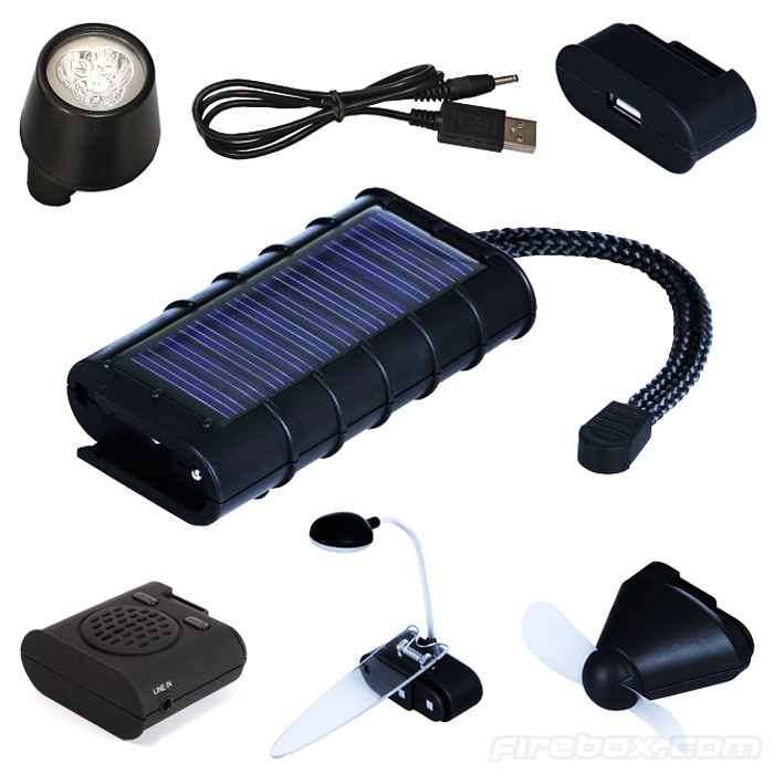 6-in-1 Solar-Powered Charging Kit