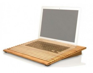 Macally Sustainable Bamboo Laptop Stand