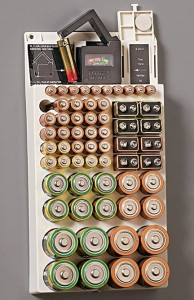 Battery Organiser and Removable Tester