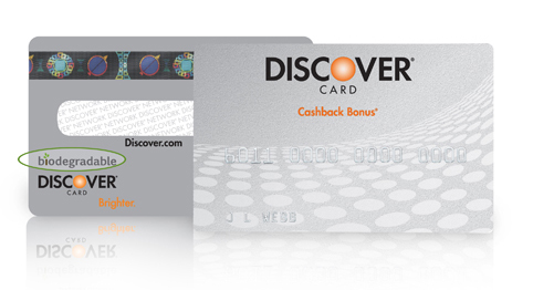 Discover BioDegradable Credit Card