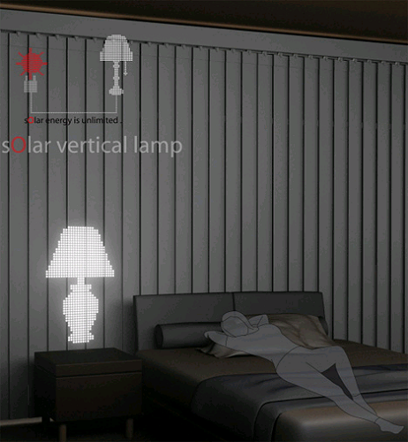 Ambient Light from Vertical Solar Blinds