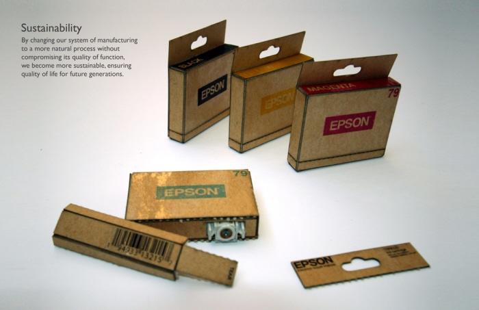 Eco-cartridge – Recycled Cardbord Ink Cartridge Concept