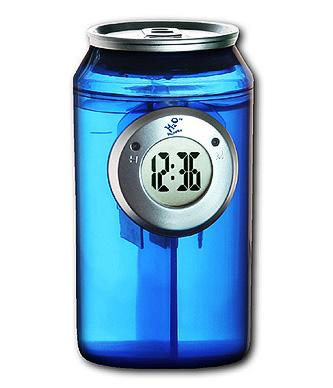 H2O Water Powered Can Shaped Clock