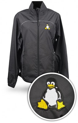 Recycled Jacket Featuring 'Tux' The Linux Penguin