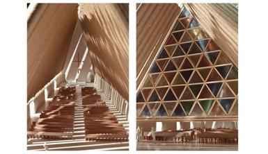 New Zealand Church Made form Cardboard