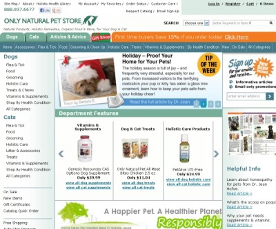 Only Natural Pet store-Organic and Holistic products for your pets