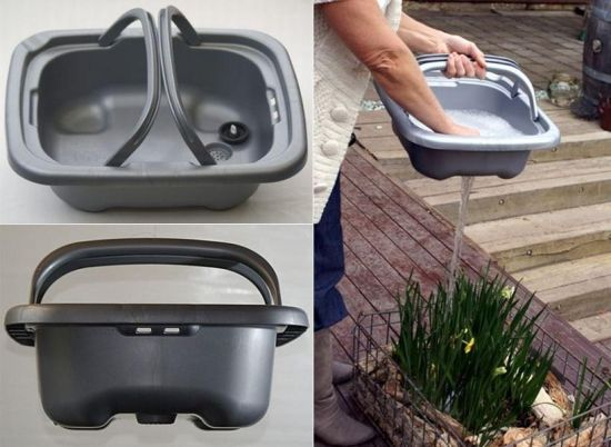 Easy Grey Water Recycling with the Removable Kitchen Sink