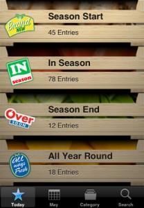 Seasons – iPhone Application for Local and Seasonal Products