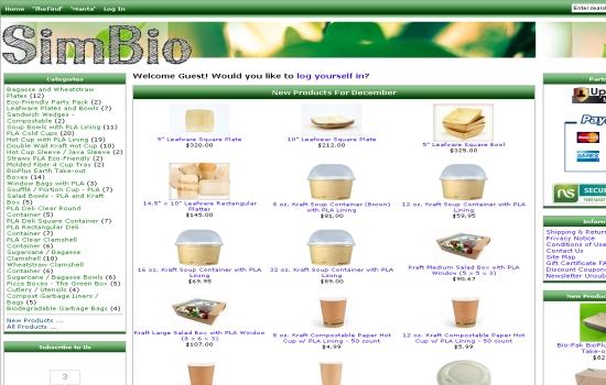 SimBioUsa-Eco-Friendly Disposable Tableware