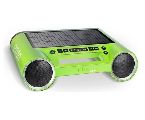 Solar Powered Portable iPod and iPhone Speakers