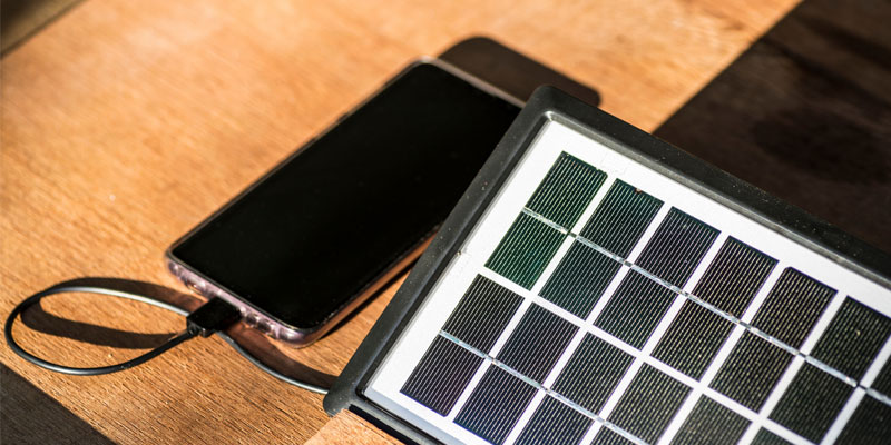 Solar Powered Phone and MP3 Player Chargers
