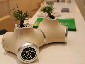 JVC Speakers with built-in Plant Pots