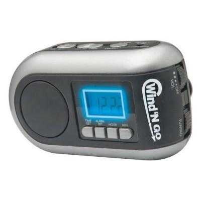 Wind 'N Go Time Minder Alarm Clock Radio