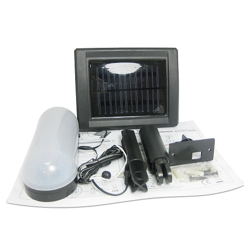 solar powered led shed light envirogadget