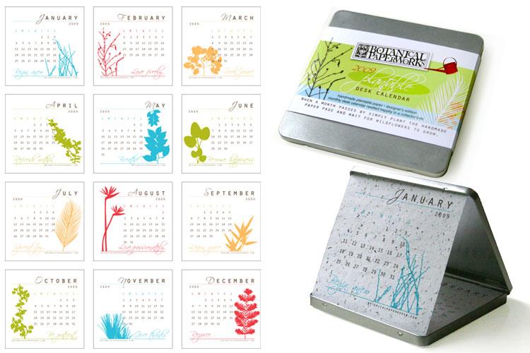 Self Made Christmas Calendar : Eco friendly plantable seed calendar envirogadget