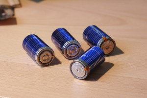 Rechargeable Batteries with Solar Cells