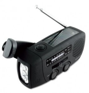 Self-Powered Emergency Radio with Flashlight