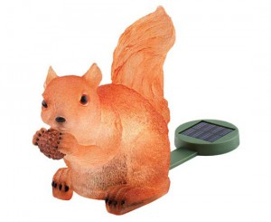 Solar Illuminated Squirrel
