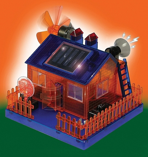 Solar powered eco house electronics kit envirogadget for How to build a solar panel for kids