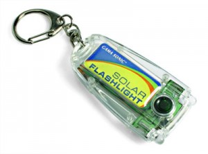 Miniature Keychain Solar Flashlight