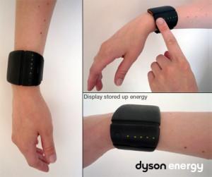 Dyson Energy Bracelet - Show Stored Energy