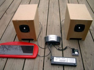 Solar Powered Boombox Parts