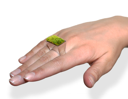 Growing ring growing a plant in jewellery envirogadget for Designer gioielli