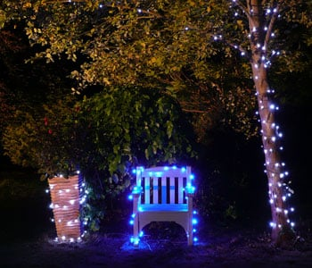 Solar Fairy Lights Around Chair