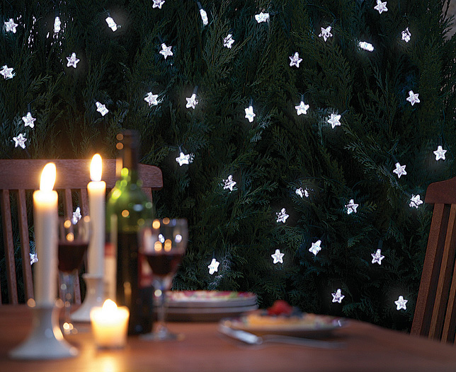 Solar-Powered Star Shaped LED Lights EnviroGadget