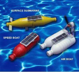 Solar Powered Bottle Boats