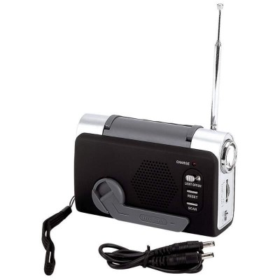 Wind-Up FM/Weather Radio With A LED Flashlight By Mitaki-Japan