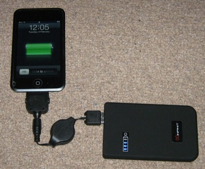 Battery Charging an iPod Touch