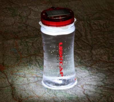 Lightcap300 Solar Powered Lantern and Water Bottle