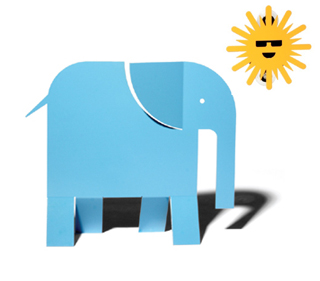 Elephant Shaped Solar Powered Night Light