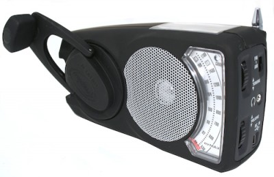 EyeMax Wind Up Solar Powered Radio with LED Torch Light