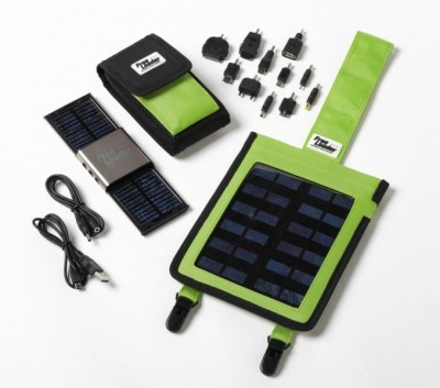 Freeloader Globetrotter Kit Solar Powered Charger with Flexible Additional Solar Panel