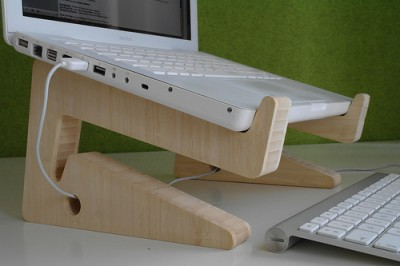 Puzzle Bamboo Wooden Laptop Stand