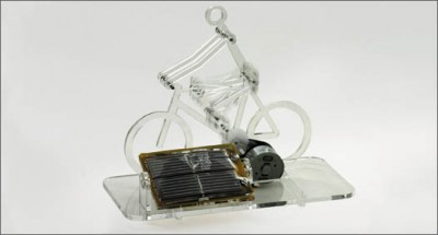 Solar Powered Perspex Biker Kit