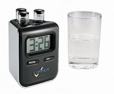 Leeds 1025-77BK Elements Water Powered Clock Black