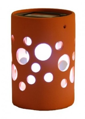 Orange Solar Light Pot With Bubble Design By Tricod