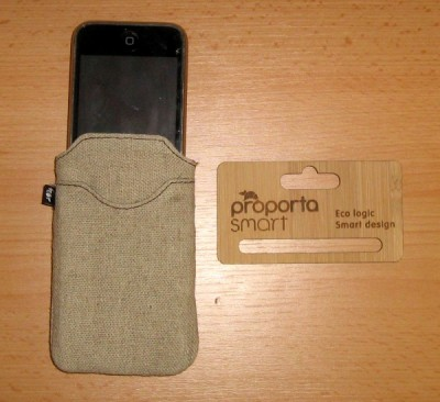 Hessian Pouch iPhone Case with Bamboo Insert