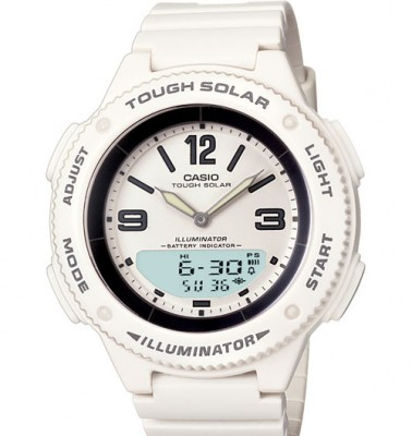 Ladies Solar Powered Ana-digi Watch By Casio
