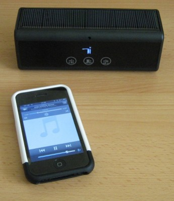 Solar Sound 2 - via Bluetooth to iPhone
