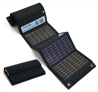 USB And AA Battery Solar Charger By PowerFlim
