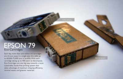 Eco-cartridge - Recycled Cardbord Ink Cartridge