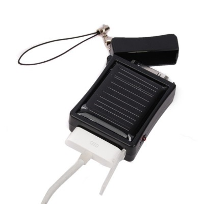 Emergency Solar Charger for Apple iPhone - Charging it up