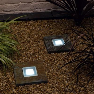 Solar Powered Slate Step Lights