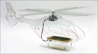 Solar Powered Perspex Helicopter Kit