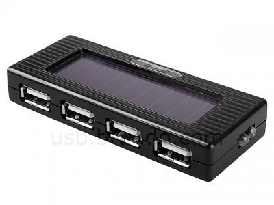USB Solar Charging 4-Port Hub with Torch